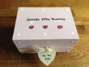 Shabby Personalised Chic Special Christening Newborn Girl Birthday Jewellery Box